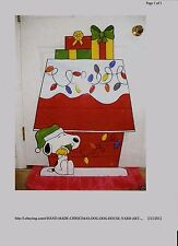 NEW PEANUTS SNOOPY CHRISTMAS YARD ART DECOR. 38'' x 25''
