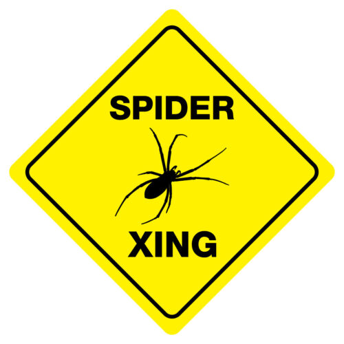 SPIDER CROSSING Funny Novelty Xing Sign