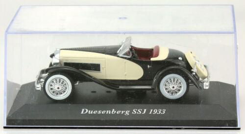 Duesenberg SSJ Roadster beige-schwarz 1933 1:43 Ixo//Altaya Modellauto BBB