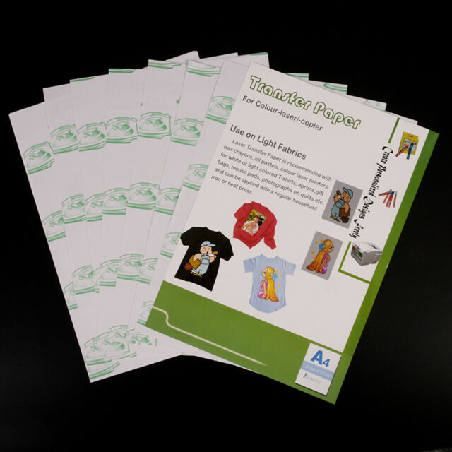 10sheets A4 iron on transfer paper for inkjet heat print for light fabric HU