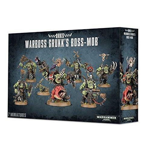 Warhammer 40K Ork Warboss Grukk's Boss-mob GAW 50-33