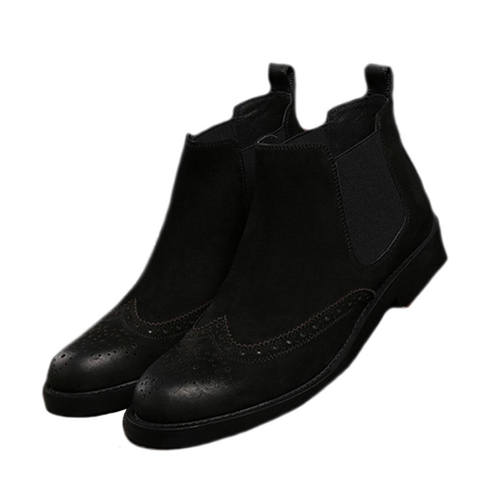 Vestido Formal Zapatos Brogue punta del del ala para Hombres Zapatos Botas Chelsea del punta negocio 84e5ea