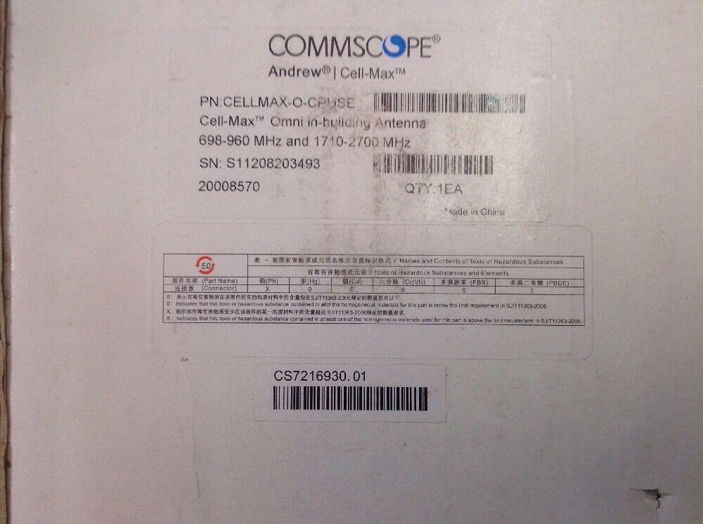 COMMSCOPE Andrew CELLMAX-D-CPUSEi 698-960//1710-2700 MHz Multiband Indoor Antenna