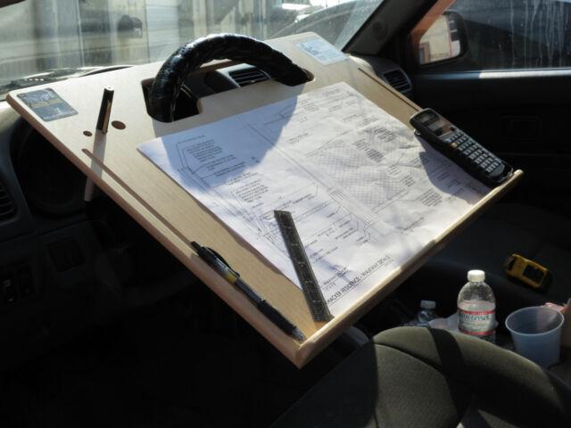 ipad car laptop tablet notepad contractor steering wheel c desk rh ebay com steering wheel desk canada steering wheel desk staples