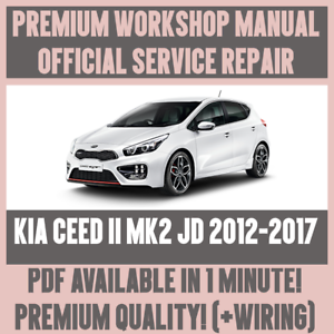 workshop manual service repair guide for kia ceed ii jd 2012 2017 rh ebay co uk service manual kia ceed 2007 service manual kia ceed pdf