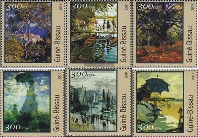 Never Hinged 2001 Paintings To Suit The PeopleS Convenience Art Stamps Selfless Guinea-bissau 1612-1617 Unmounted Mint