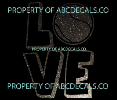 VRS Love Logo Tennis Racket Ball CAR DECAL METAL STICKER