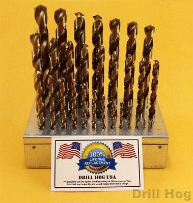 """Drill Hog USA 31//64/"""" Cobalt Drill Bits M42 Drill Bit 6 Pack Lifetime Warranty"""