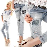New Sexy Women Clubbing Ladies Skinny Leg Jeans Blue Trouser Size 6 8 10 12 S M