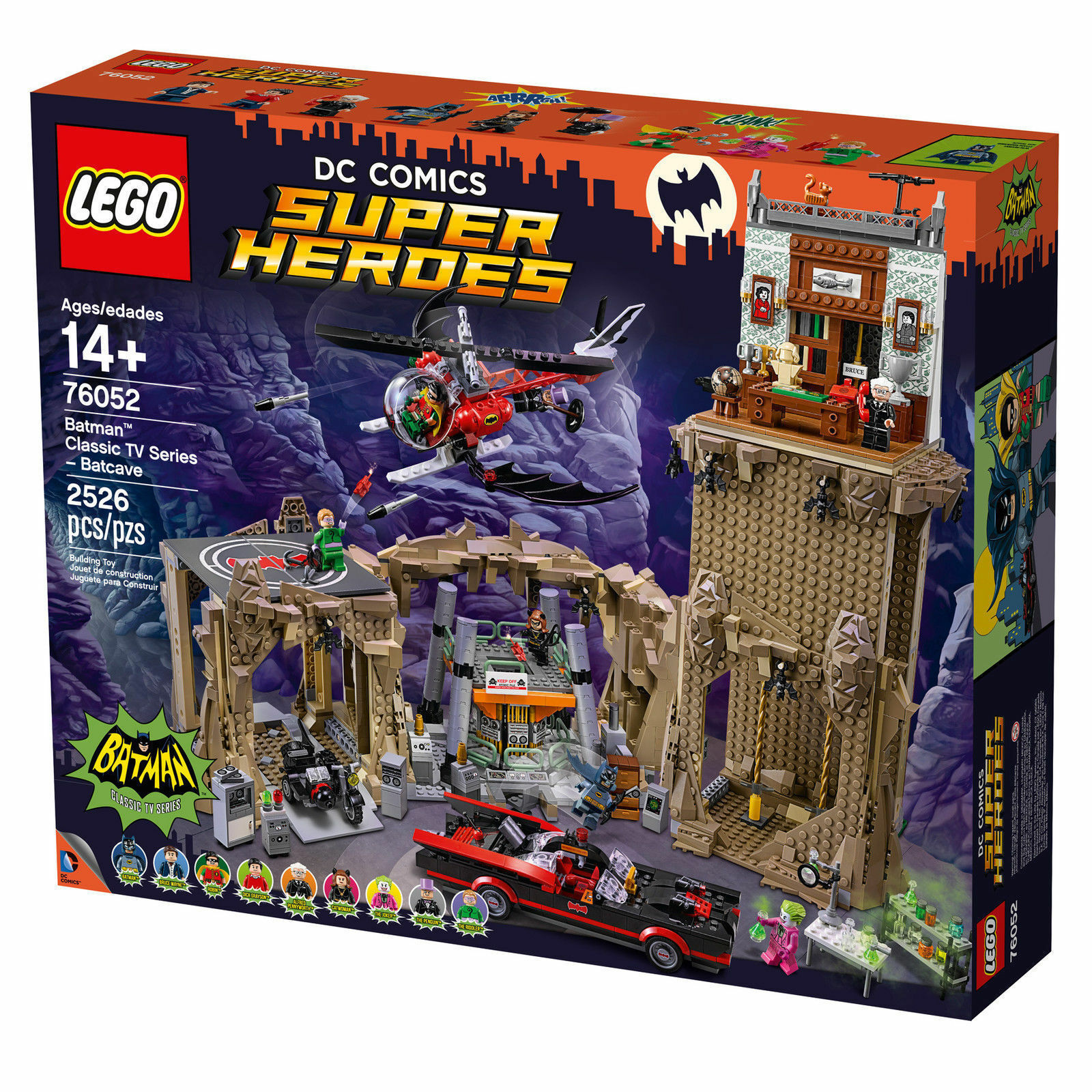 Nuovo and Sealed LEGO DC Universe Batman Classic TV Series Batcave 76052