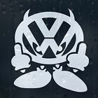VW Finger Off Volkswagen Logo Car Decal Vinyl Sticker VW Golf Passat Scirocco