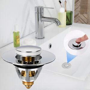 Universal Wash Basin Core Bounce Drain Filter Pop Up Bathroom Sink Plug Stopper