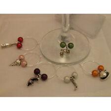 Set of 6 Handmade Variety Wine Glass Charms www.libbysmarketplace.com - FREE P&P