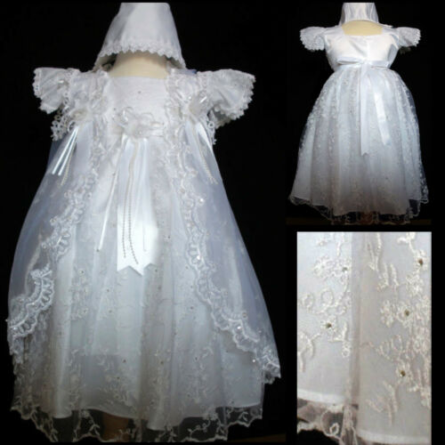 New Baby Girl Christening Baptism Formal Party Dress size  0-6M,18-24M,24-30M
