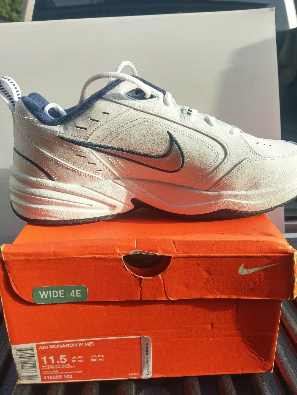 Nueva Nike Air Monarch mettalic IV Hombre Blanco / mettalic Monarch 11,5 EEEE marca de descuento 0d37cf