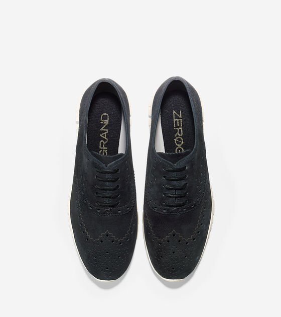 NEW Women's Cole Haan ZeroGrand D44060 D44060 D44060 Wing Oxford Black Suade Size 10B 1cbce7