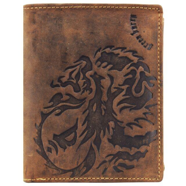 Vintage Dragon Porte-monnaie cuir 10 cm (braun)
