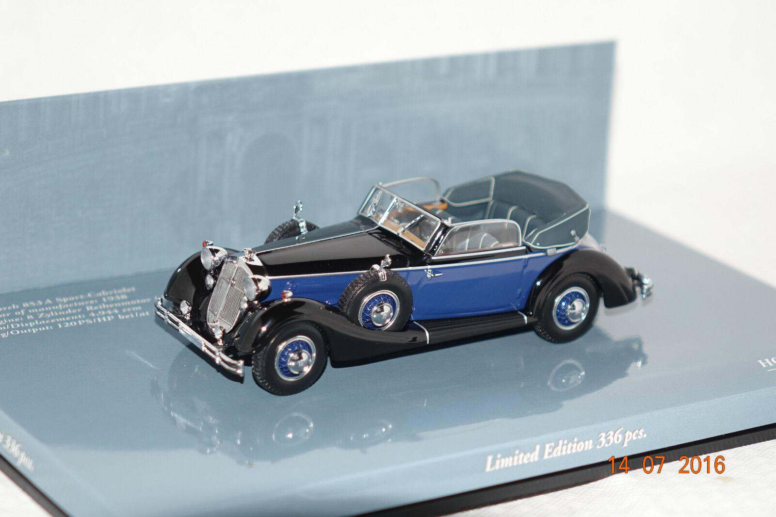 Autresdomaines 853 a sport cabriolet 1938 Noir-Bleu 1 43 MINICHAMPS NEUF & OVP 436012036
