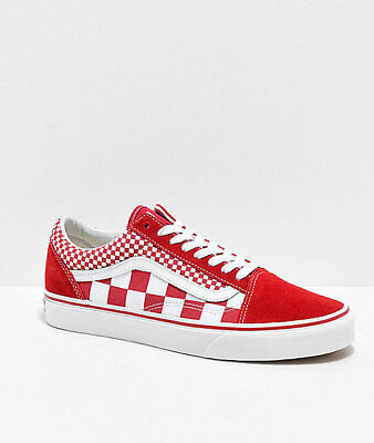 Neu Vans Old Skool Mix Checker Rot Weiß Checkerboard Skate Schuhe Herren | eBay