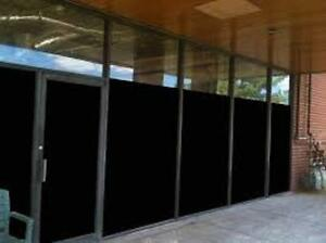"""48"""" X 25 FT ROLL BLACKOUT FILM PRIVACY FOR OFFICE,BATH,GLASS DOORS,STOREFRONTS"""