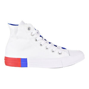 Star Hi Unisex Shoes White-Red-Blue