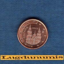 Espagne - 2003 - 1 centime d'euro - Pièce neuve de rouleau -