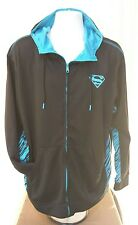 Superman Mens DC Comics Black Zip Up Hoodie Track Jacket Size EX Large EX. COND