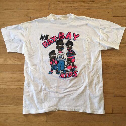 Vintage 90's Single Stitch Bootleg Bart We Bay Bay