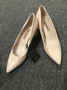 Zara Woman Nude Patent Pointed Toe
