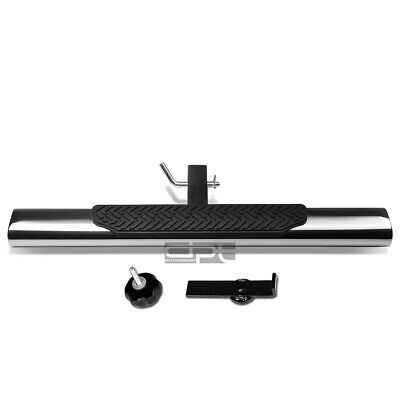 """35/""""x 4/"""" OVAL 2/"""" RECEIVER CHROME TRAILER TOWING//HITCH COVER STEP BAR//BUMPER GUARD"""