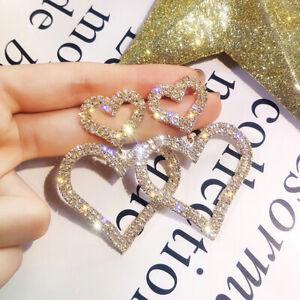 Fashion-Crystal-Double-Love-Heart-Drop-Dangle-Earrings-Women-Jewelry-GiftsHR-MW