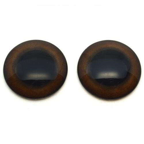 20mm Grizzly Bear Realistic Brown Eye Jewelry Taxidermy Art Glass Animal Eyes