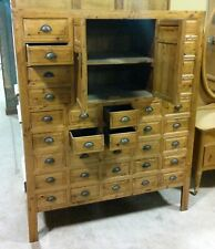 33 Drawer Oriental Apothecary, Spice, Jewlry Cabinet with Center Doors