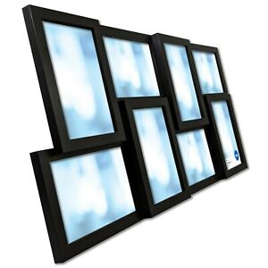8-Opening Black Collage Frame