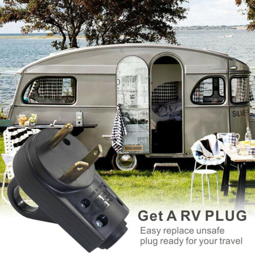 US RV 30 50 AMP Female Male Replacement Power Cord Plug Socket Heavy Duty Handle