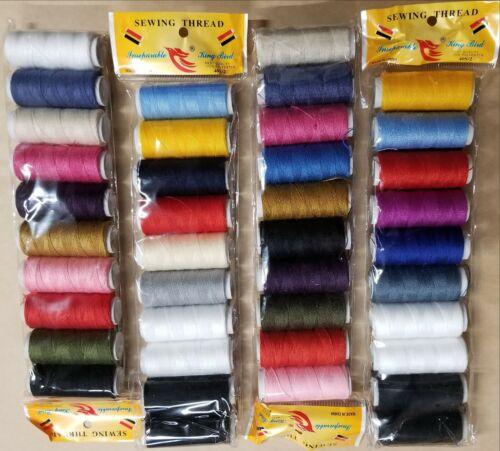 Chaque Bobine-Neuf environ 182.88 m 40 Bobines Fil à Coudre Polyester Couleurs Assorties 200 Yd