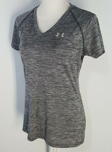 Under-Armour-HeatGear-Womens-Semi-Fitted-Athletic-Top-Small-Shirt-Heather-Gray