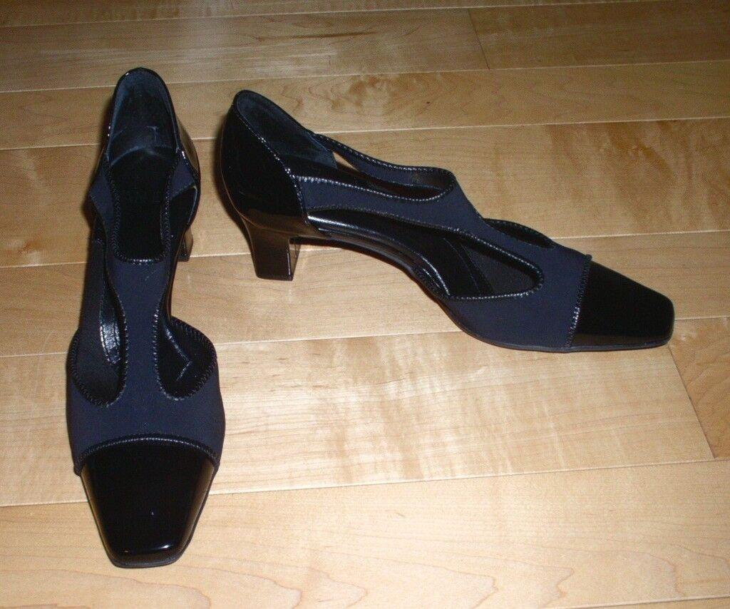 New Van Eil Wms Black Black Black Leather Heels 7.5 N Must C 2484f0