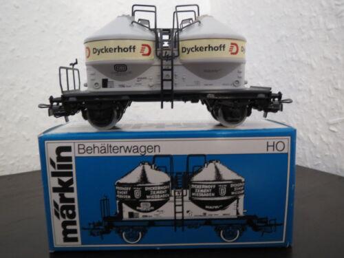 h0 hellgru//noir Märklin 4761 récipient voiture Dyckerhoff OVP