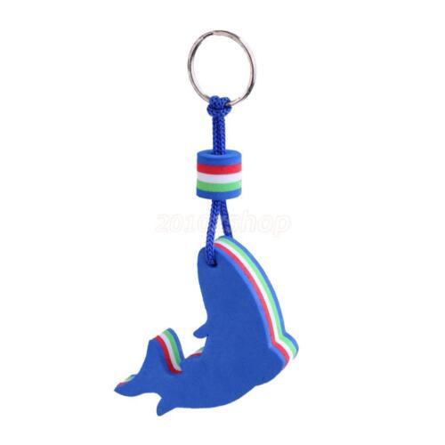 Blue Sailing Delphin schwimmende Schlüsselanhänger Boot Float Marine Keys