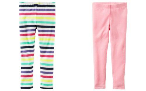 Carter/'s Girls/' TWO Pair Leggings Horizontal Stripes /& Light Pink NWT pants