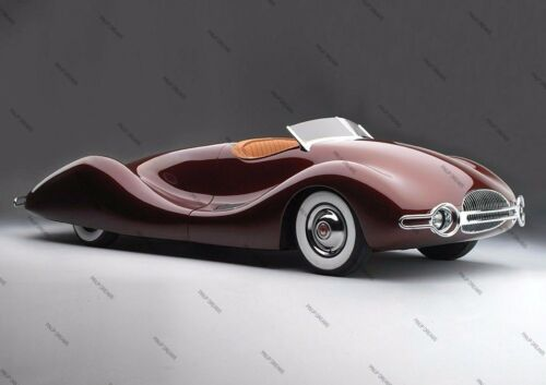 Poster Retro Wall Art of Classic Vintage Buick Streamliner 1949