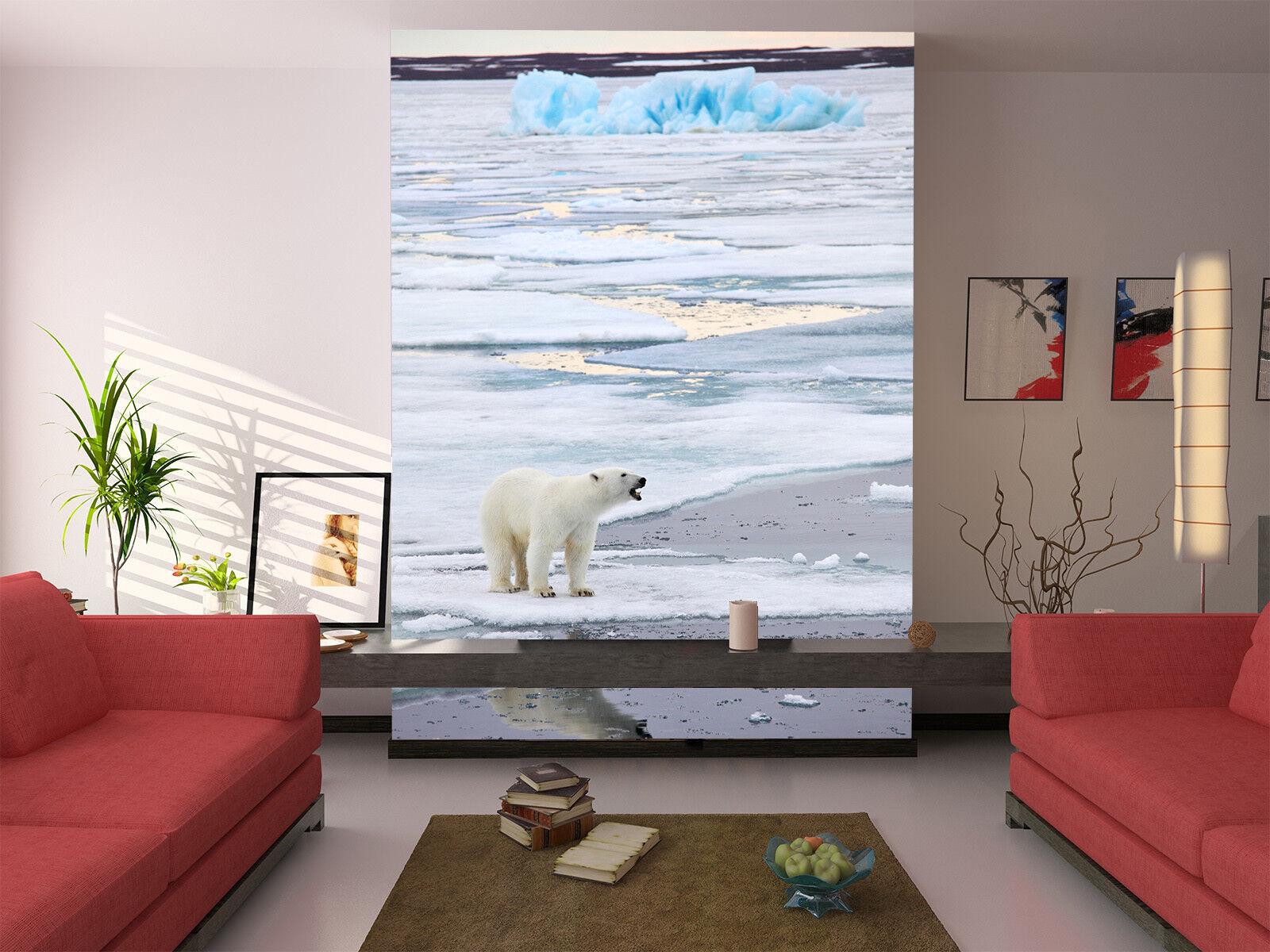 3D Gletschers Eisbär 899 Tapete Wandgemälde Tapete Tapeten Tapeten Tapeten Bild Familie DE Jenny | Qualität zuerst  | Verkaufspreis  |  23c2dc