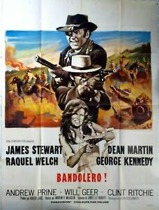 Plakat-Kino-Western-Bandolero-James-Stewart-Raquel-Welch-120-X-160-CM