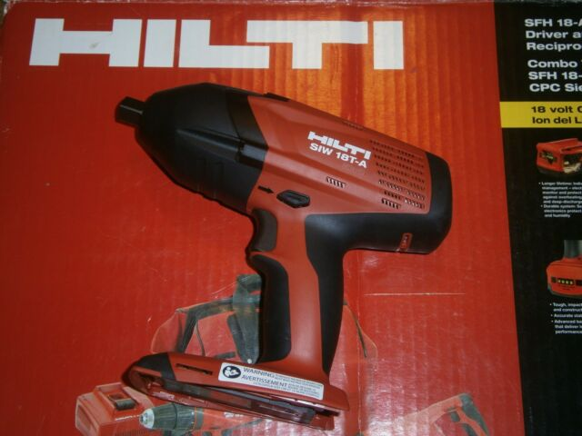 """HILTI SIW 18T-A  18V 1//2/"""" IMPACT WRENCH CORDLESS Kit BRAND NEW"""