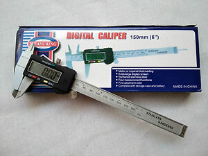 Vernier-Caliper-Digital-150-mm-6-034-LCD-Display-Electronic-with-Battery