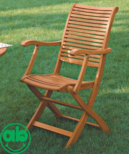 Coppia sedie in legno Balau da giardino con braccioli 63x50xh95 Cm Riviera