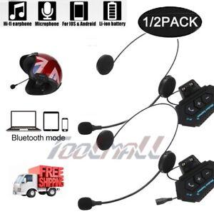 Motorcycle-Intercom-Helmet-Headset-Wireless-Bluetooth-4-1-Headphone-Rechargeable