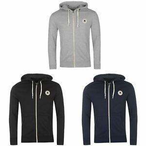 Converse Core Full Zip Hoody Jacket Mens Hoodie Sweatshirt Sweater Hooded Top