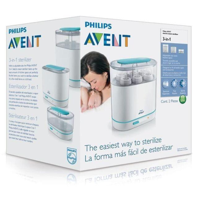 Sterilizer Philips AVENT 3-in-1 Electric Steam Esterilizador Free Shipping